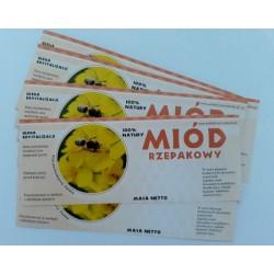 Etykiety miód rzepakowy 100szt